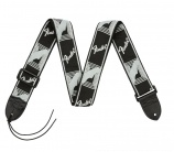 Fender Monogrammed Strap Black Grey - 14913