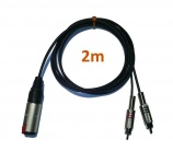 Cable Audio Jack Hembra a 2 RCA - 4080