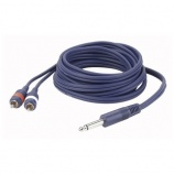 Cable audio jack mono a 2 RCA macho - 7352