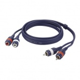 Cable audio 2 RCA macho a 2 RCA hembra - 7379